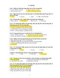 Một số câu hỏi thi hết môn dinh dưỡng học