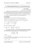 Lưu Trung Hiếu – Cao học Hóa  - Cơ sở phương pháp đường chéo và các bài toán mở rộng