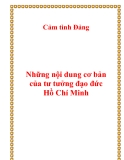 Những nội dung cơ bản của tư tưởng đạo đức Hồ Chí Minh – Cảm tình Đảng
