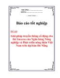 Báo cáo tốt nghiệp: Giải pháp truyền thông cổ động cho thẻ Success của Ngân hàng Nông nghiệp và Phát triển nông thôn Việt Nam trên đại bàn Đà Nẵng