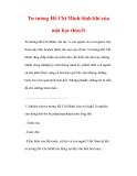 Tư tưởng Hồ Chí Minh Sinh khí của một học thuyết