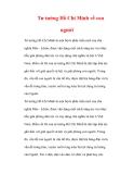 Tài liệu về Tư tưởng Hồ Chí Minh về con người