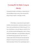 Tư tưởng Hồ Chí Minh về công tác Dân tộc