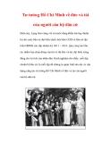 Tư tưởng Hồ Chí Minh về đức và tài của người cán bộ dân cử