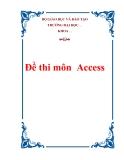 Đề thi môn  Access