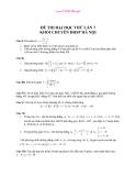 Đề thi thử toán lần 7 -  ĐH Sư Phạm Hà Nội