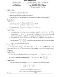 Đề thi thử toán khối D - THPT chuyên Nguyễn Huệ