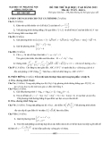 Đề thi thử toán - khoa toán tin - ĐH Sư Phạm Hà Nội