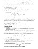 đề thi thử ĐH sư phạm hà nội môn toán