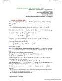 dùng bất đẳng thức cosi giải toán đại số