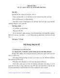 KỸ THUẬT CHĂN NUÔI LỢN SINH SẢN HƯỞNG LẠC - CHUYÊN ĐỀ 6 XỬ LÝ CHẤT THẢI, VỆ SINH MÔI TRƯỜNG