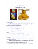 Giáo trình thực tập công nghệ chế biến rau quả - Bài 3