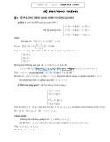 Ôn thi Chuyên đề Hệ phương trình
