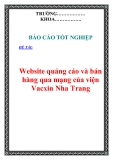 Đồ án tốt nghiệp: Website quảng cáo và bán hàng qua mạng của viện Vacxin Nha Trang