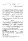 """Báo cáo khoa học: """"ẢNH HƯỞNG CỦA HÀM LƯỢNG ĐẠM ĐẾN SỨC SINH SẢN CỦA CÁ ÔNG TIÊN (Pterophyllum scalare)"""""""