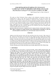"""Báo cáo khoa học: """" ẢNH HƯỞNG KÍCH CỠ GIỐNG LÊN NĂNG SUẤT VÀ HIỆU QUẢ KINH TẾ MÔ HÌNH NUÔI TÔM CÀNG XANH (Macrobrachium rosenbergii ) VÀ LÚA LUÂN CANH Ở CẦN THƠ"""""""