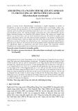 """Báo cáo khoa học: """" ẢNH HƯỞNG CỦA NGUỒN TÔM MẸ LÊN SỨC SINH SẢN VÀ CHẤT LƯỢNG ẤU TRÙNG TÔM CÀNG XANH (Macrobrachium rosenbergii)"""""""