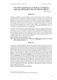 """Báo cáo khoa học: """" ỨNG DỤNG OZONE XỬ LÝ NƯỚC VÀ VI KHUẨN Vibrio spp. TRONG BỂ ƯƠNG ẤU TRÙNG TÔM SÚ"""""""