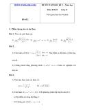 ĐỀ ÔN TẬP HỌC KÌ 2 – TOÁN Lớp 11