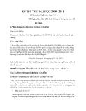 KỲ THI THỬ ĐẠI HỌC 2010- 2011 Đề thi môn: Ngữ văn