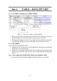 GIÁO TRÌNH LẬP TRÌNH QUẢN LÝ VỚI MICROSOFT OFFIC ACCESS - BÀI  2 TABLE – BẢNG DỮ LIỆU