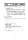 GIÁO TRÌNH LẬP TRÌNH QUẢN LÝ VỚI MICROSOFT OFFIC ACCESS - BÀI  4 QUERY – BẢNG TRUY VẤN