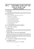 GIÁO TRÌNH LẬP TRÌNH QUẢN LÝ VỚI MICROSOFT OFFIC ACCESS - BÀI 8  GIỚI THIỆU NGÔN NGỮ VBA (VISUAL BASIC FOR APPLICATIONS)