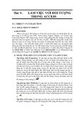 GIÁO TRÌNH LẬP TRÌNH QUẢN LÝ VỚI MICROSOFT OFFIC ACCESS - BÀI 9 LÀM VIỆC VỚI ĐỐI TƯỢNG TRONG ACCESS
