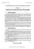 GIÁO TRÌNH CƠ SỞ SẢN XUẤT MAY CÔNG NGHIỆP - CHƯƠNG 2:  KHÁI QUÁT VỀ SẢN XUẤT MAY CÔNG NGHIỆP