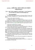 GIÁO TRÌNH KIỂM TRA CHẤT LƯỢNG SẢN PHẨM NGÀNH MAY - CHƯƠNG 2 : KIỂM TRA CHẤT LƯỢNG SẢN PHẨM NGHÀNH MAY