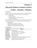 GIÁO TRÌNH MICOSOFT VISUAL BASIC - Chương 13 Microsoft Windows Common Controls Toolbar - Statusbar - DTpicker