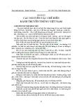 GIÁO TRÌNH BÁNH TRUYỀN THỐNG VIỆT NAM -  CHƯƠNG IV CÁC NGUYÊN TẮC CHẾ BIẾN BÁNH TRUYỀN THỐNG VIỆT NAM