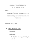 Giáo án mầm non chương trình đổi mới: SO SÁNH SỐ LƯỢNG TRONG PHẠM VI 5 THÊM BỚT TẠO SỰ BẰNG NHAU TRONG PHẠM VI 5