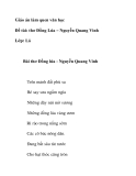 Giáo án mầm non chương trình đổi mới: Giáo án làm quen văn học Đề tài: thơ Đồng Lúa – Nguyễn Quang Vinh Lớp: Lá