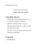 Giáo án mầm non chương trình đổi mới: Chủ đề : MộT Số LOạI HOA Đề tài : Nhóm chữ v, r (lần 1)