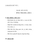 Giáo án mầm non chương trình đổi mới:   Chủ Đề : MÙA XUÂN Đề tài : Nhóm chữ s, x (lần 1)