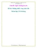 Giáo án mầm non chương trình đổi mới:   Chủ đề: Ngôi trường bé yêu  - Đề tài: Những chiếc vòng xinh xắn Nhóm lớp: 25-36 tháng