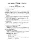 GIÁO TRÌNH ĐỊNH MỨC XÂY DỰNG CƠ BẢN - PHẦN II ĐỊNH MỨC VẬT TƯ TRONG XÂY DỰNG - CHƯƠNG 6
