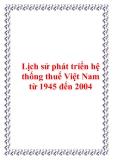 Lịch sử phát triển hệ thống thuế Việt Nam từ 1945 đến 2004