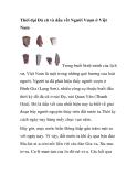Thời đại Đá cũ và dấu vết Người Vượn ở Việt Nam