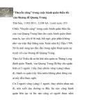 """""""Thuyền cáng"""" trong cuộc hành quân thần tốc của Hoàng đế Quang Trung"""