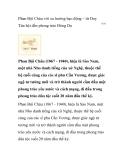 Phan Bội Châu với xu hướng bạo động – từ Duy Tân hội đến phong trào Đông Du