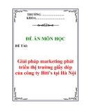 Để án môn học : Giải pháp marketing phát triển thị trường giầy dép của công ty Biti's tại Hà Nội