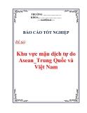 Báo cáo tốt nghiệp: Khu vực mậu dịch tự do Asean_Trung Quốc và Việt Nam