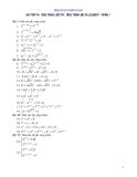bài tập phương trình bất puong trình mũ và logarit cấp 3