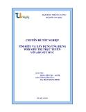 Báo cáo tốt nghiệp : Tìm hiểu và xây dựng ứng dụng  wed  siêu thị trực tuyến  với ASP NET MVC