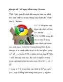 Google vá 7 lỗi nguy hiểm trong Chrome