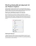 FilerFrog thành phần mở rộng tuyệt vời cho Windows Explorer