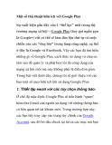 Một số thủ thuật hữu ích với Google Plus
