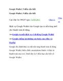 Google Wallet: 5 điều cần biết Google Wallet